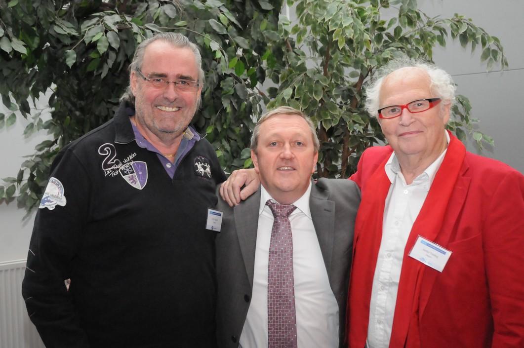 Tandläkare Calle Hagman tillsammans med professor de Bryun och tandläkare Sverker Toreskog på SAED's konferens 2010.