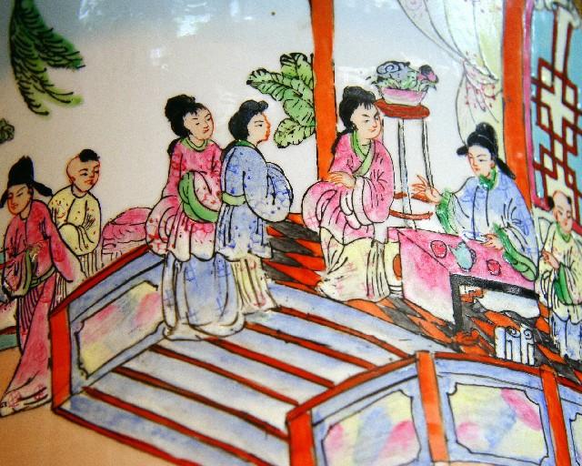 Vas av porslin från Kina