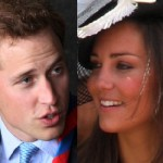 Prins William med blivande hustrun Kate
