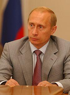 Vladimir Putin, premiärminister i Ryssland