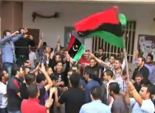 Studenter firar Libyens frihet