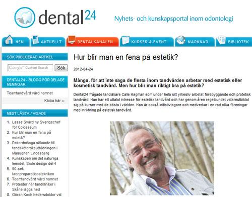 Tandläkare Calle Hagman på sajten Dental 24