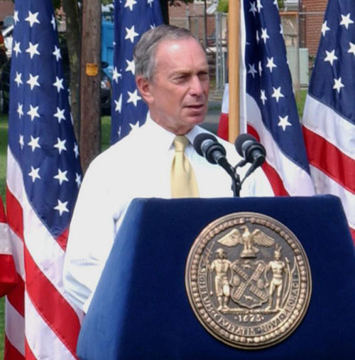 New Yorks borgmästare Michael Bloomberg