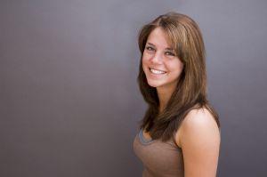 leende kvinna